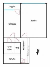 Budapesz XXI. ker eladó lakás 48m2 Csepeli panellakás 1+1 szoba 2. emelet ingatlan hirdetéshez feltöltött kép