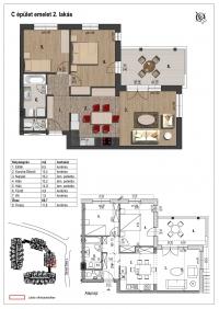 Veresegyház eladó 66,7 m2-es lakás 2+1 új építésû szoba termálvízes ingatlan hirdetéshez feltöltött kép