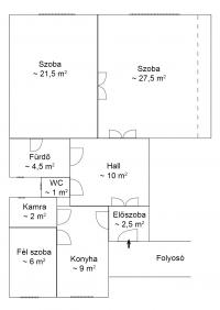 Budapest XI. kerület eladó lakás 84m2 2+1 szoba 5. emeleti polgári lakás ingatlan hirdetéshez feltöltött kép